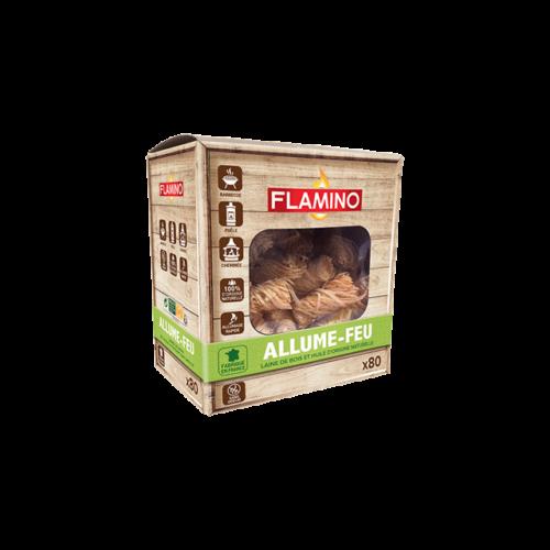 Allume feux laine de bois FLAMINO x80