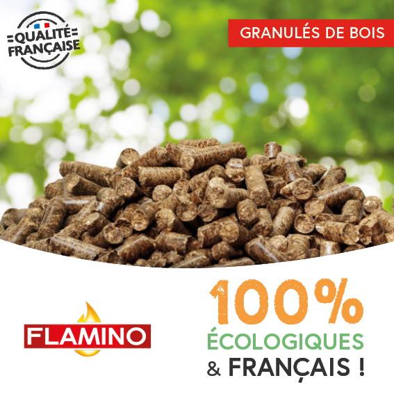 Granules de bois ecologiques et francais
