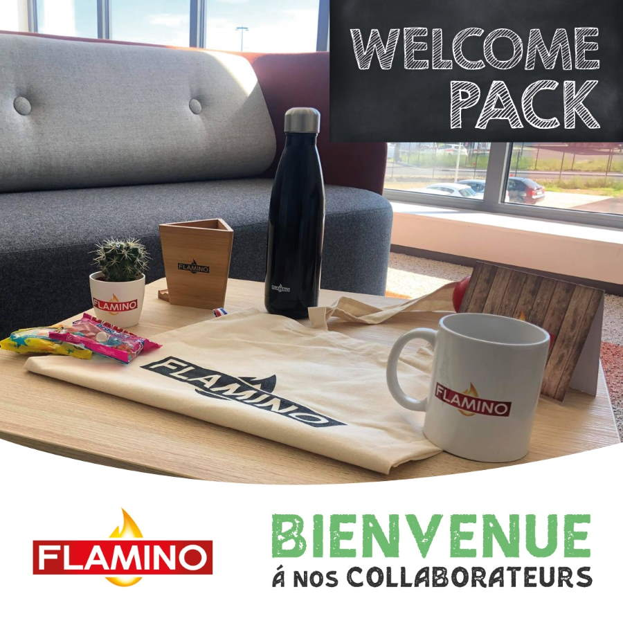 Welcome pack pour nos collaborateurs chez Flamino